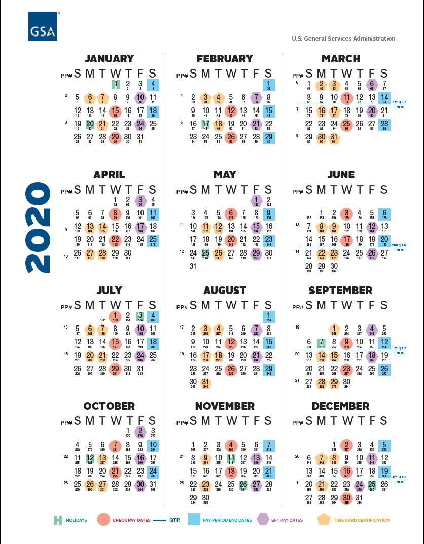 Usda Pay Period Calendar 2021 GSA Payroll Calendar 2020 | Payroll Calendar