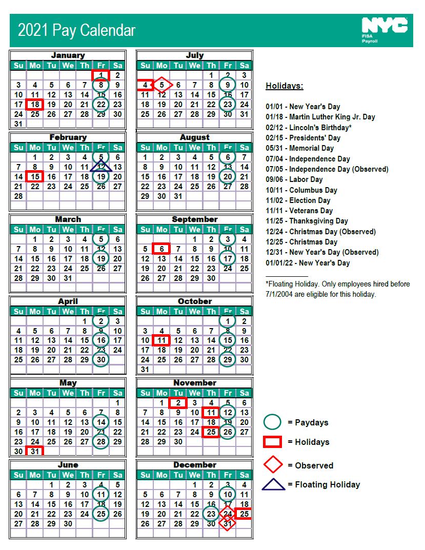 Nycdoe Calendar 2022.Nyc Doe Payroll Calendar 2021 Payroll Calendar