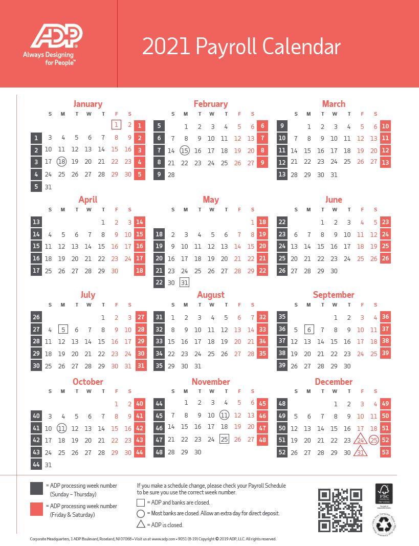 UPS Payroll Calendar 2021 | Payroll Calendar